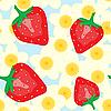 Hintergrund mit Erdbeere