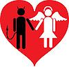 Teufel und Engel