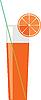 Zitrus-Saft in einem Glas