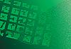 abstrakter grünen Hintergrund. Dial. Grunge