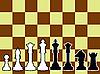Schachfiguren, schwarz und weiß Konturen