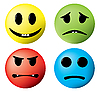 Set von Icons - Lächeln