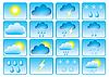 Symbole für die Anzeige von Wetterdaten