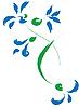 Vektor Cliparts: Stilleben mit blauen Blumen