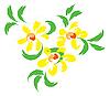 Vektor Cliparts: Stilleben mit gelben Blumen