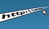 Vektor Cliparts: Abstract line-Eingang für web-Adresse und Cursor