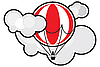 Ballon in den Wolken