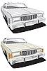 ID 3014764 | Big american retro car | Klipart wektorowy | KLIPARTO