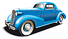 Vector clipart: Blue Old Car