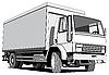 Czarno-biały wagon | Stock Vector Graphics
