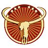 Vignette mit Buffalo-Schädel