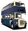 blauer Doppeldecker-Bus