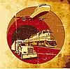Przewóz ładunków grunge | Stock Vector Graphics