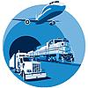 Przewóz ładunków niebieski | Stock Vector Graphics