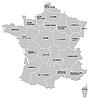 ID 3015055 | Frankreichs Landkarte | Stock Vektorgrafik | CLIPARTO