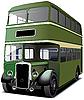 grüner Doppeldecker-Bus