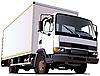 Белый грузовик-фургон | Векторный клипарт
