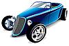 Blaues altes Auto