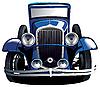 蓝色老爷车 | 向量插图