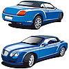 Vector clipart: luxury blue car