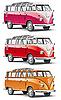 Altmodisches europäisches Kleinbus | Stock Vektrografik