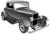 Vector clipart: vintage car engraving