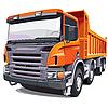 Großer orangefarbener LKW | Stock Vektrografik
