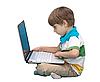 ID 3013838 | 노트북과 소년 흰색 배경에 고립 | 높은 해상도 사진 | CLIPARTO