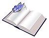 Offenes Buch mit Schmetterling