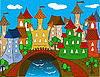 Colorful Cartoon town house
