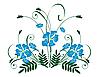Strauß von blauer Blumen