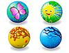 ID 3014285 | Четыре мяча четыре сезона | Иллюстрация большого размера | CLIPARTO