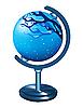 Globe mit dem Bild der Winterlandschaft