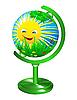 Globus mit dem Bild des Sommers