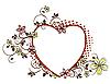 ...матовый,творческие,дизайн,цифровые,цифровой,элемент,цветочные,течет,кадр. цветочный узор в виде сердца.