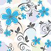 nachtloses blaues Blumenmuster