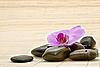 ID 3014404 | Rosa Orchidee und Zen-Steine | Foto mit hoher Auflösung | CLIPARTO