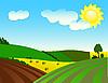 Agrarlandschaft | Stock Vektrografik