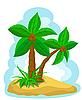 Palmen mit Kokos