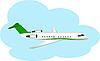 Flugzeug in Wolken