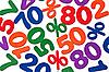 ID 3014602 | Hintergrund der Zahlen und Prozent - Ausverkauf | Foto mit hoher Auflösung | CLIPARTO