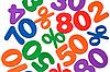 ID 3014622 | Hintergrund der Zahlen und Prozent - Ausverkauf | Foto mit hoher Auflösung | CLIPARTO