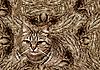抽象的背景与猫 | 免版税照片