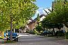 ID 3018828 | Wohngebiet in einer kleinen Stadt in Deutschland | Foto mit hoher Auflösung | CLIPARTO