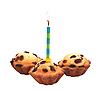 ID 3019083 | Geburtstag Kuchen mit Kerze | Foto mit hoher Auflösung | CLIPARTO