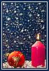 ID 3019089 | Weihnachtskarte mit Kerze | Foto mit hoher Auflösung | CLIPARTO