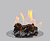 ID 3019230 | Spalanie papieru na metalowej tacy. | Foto stockowe wysokiej rozdzielczości | KLIPARTO