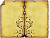 ID 3019257 | 旧纸张背景与饰品 | 高分辨率插图 | CLIPARTO