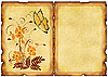 Stare pocztówki z kwiatowymi wzorami | Stock Illustration