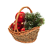 Weihnachtsschmuck im Weidenkorb | Stock Photo